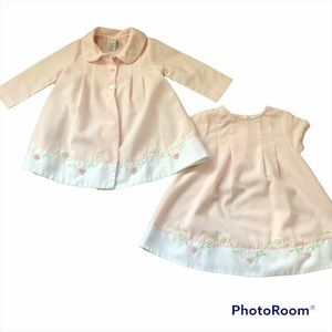 Two piece girl vintage Starting Out dress set